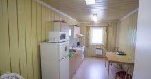Kuchyňka s chladničkou,mikrovlnkou,varnou konvicou a sporákom